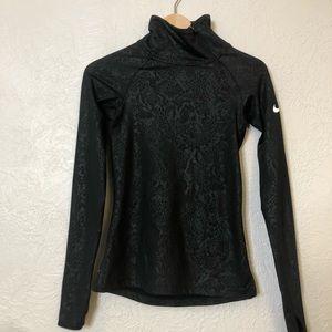 Nike black shiny lace running jacket XS